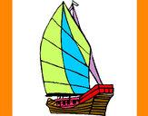 Desenho Veleiro pintado por Cyro