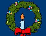 Desenho Coroa de natal e uma vela pintado por RegisAssun