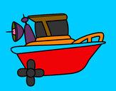 Desenho Barco a motor pintado por NAGIB