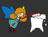 Desenho Fada dos dentes pintado por anaclara_r