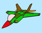 Desenho Avião caça pintado por marcolego