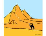 Desenho Paisagem com pirâmides pintado por daniel12