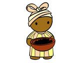 Desenho Rapariga africana pintado por bupretty