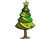 Desenho Árvore de natal II pintado por rcas