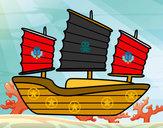 Desenho Navio oriental pintado por DaviLindo