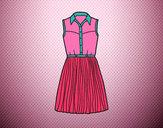 Desenho Vestido texano pintado por daniela200