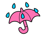 Desenho Guarda-chuva aberto pintado por Bhunna