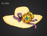 Desenho Chapéu por flores pintado por amauri