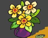 Desenho Jarro de flores pintado por amauri