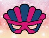 Desenho Máscara com plumas pintado por luaspezia