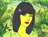 Desenho Taylor Swift pintado por santanasil