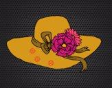 Desenho Chapéu por flores pintado por Missim