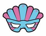 Desenho Máscara com plumas pintado por camilaS2