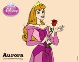 A Bela Adormecida - Aurora com uma rosa
