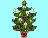 Desenho Árvore de natal com velas pintado por CRIADO