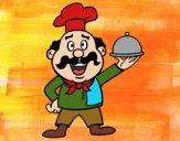 Desenho Cozinheiro italiano pintado por Kamy77