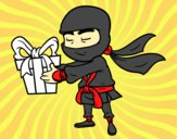 Ninja com um presente
