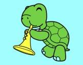 Tartaruga com trombeta