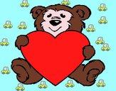 Desenho Urso apaixonado pintado por cyntia