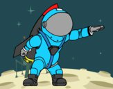 Astronauta com foguete