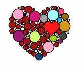 Coração com círculos