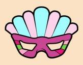 Máscara com plumas