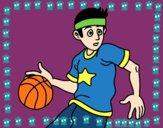 Desenho Junior jogador de basquete pintado por paloma-03