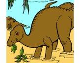 Dinossauro a comer