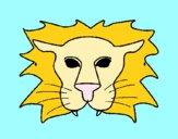 Desenho Leão pintado por Margarida-