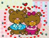 Ursitos apaixonados