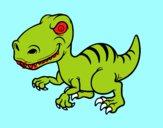 Desenho Dinossauro velociraptor pintado por VitoriaSDP