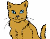 Desenho Gato pintado por mcardoso