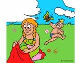 Mãe e filho maias