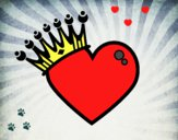Coração com coroa
