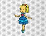 Menina com vestido de baile
