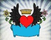 Desenho Mensagem com coração pintado por luzinda
