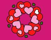 Mandala com corações