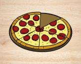 Desenho Pizza italiana pintado por Anapestana