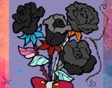 Desenho Ramo de rosas pintado por Puk