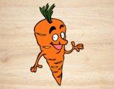 Desenho Senhor cenoura pintado por ImShampoo