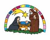 Desenho Manjedoura de natal pintado por Kercia