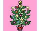 Árvore de natal com velas