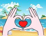 Coração com as mãos