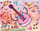 Desenho Guitarra flamenca pintado por Mimi_kawai