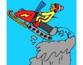 Desenho Salto com moto de neve pintado por vitorcely