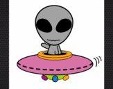 Desenho Alienígena pintado por LuadeLuzz