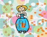 Mulher com vestido