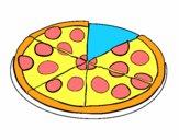 Desenho Pizza de pepperoni pintado por elvis7