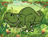 Desenho Tyrannosaurus Rex pintado por raquel1237
