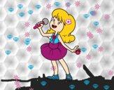 Estrela pop cantando